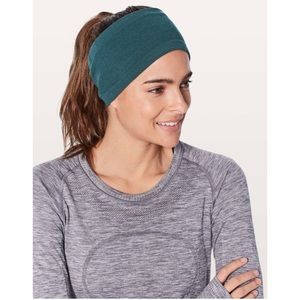 Lululemon Wool Be Warm Ear Warmer Submarine Green